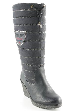 Tamaris Absatz Stiefel schwarz Kuschel-Optik