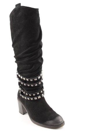 Tamaris Heel Boots black-silver-colored elegant