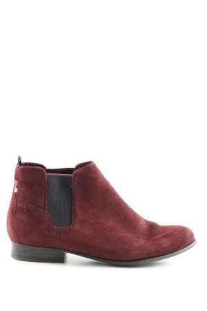 Tamaris Botas de tobillo rojo look casual
