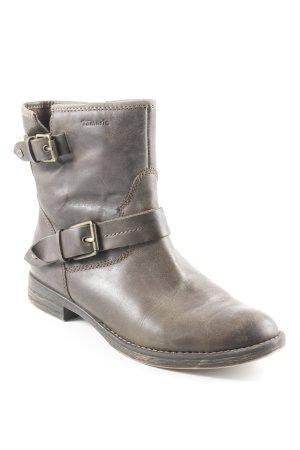Tamaris Ankle Boots grüngrau Casual-Look
