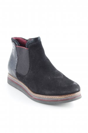 Tamaris Ankle Boots schwarz Animalmuster Street-Fashion-Look