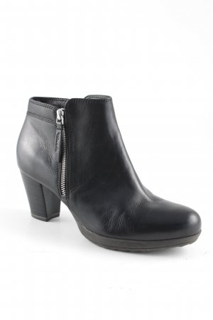 Tamaris Botas de tobillo negro-color plata look casual