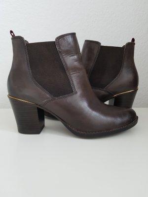 TAMARIS Ankle Boots/Stiefeletten, Gr. 37, dunkelbraun, Leder