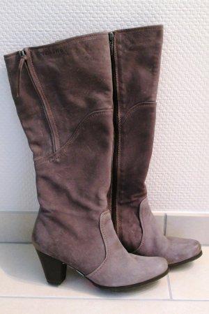 Tamaris Bottes à talon gris-gris brun cuir