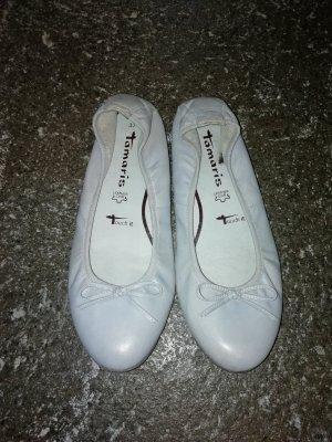 Tamaris Ballerinas grau Leder 37