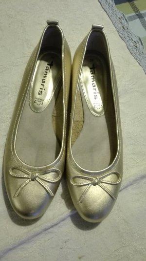 Tamaris Ballerinas in gold
