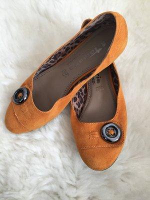 Tamaris Ballerinas in Orange, Größe 38