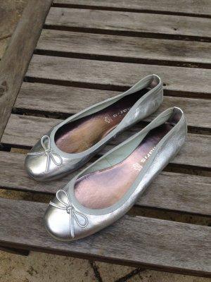 Tamaris Ballerinas Leder Silber