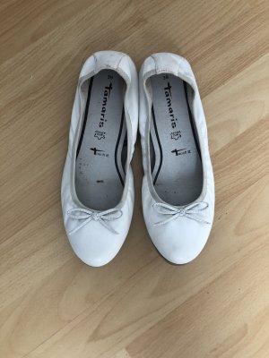 Tamaris Ballerinas Leder weiß