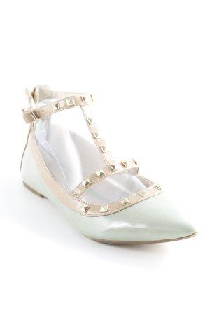 Tamaris Ballerinas mit Spitze blassgrün Elegant