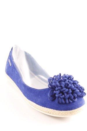 Tamaris Ballerinas mit Spitze blau Beach-Look
