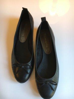 Tamaris Ballerinas schwarz Echtleder Größe 38