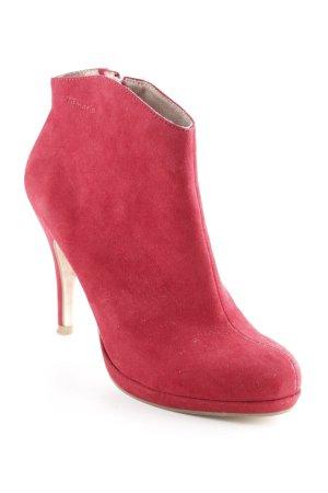 Tamaris Booties karminrot Street-Fashion-Look