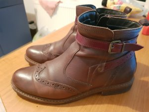 Tamaris Low boot rouge carmin-cognac cuir
