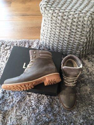 Tamaris Boots grau 38 Echtleder Leder Stiefeletten