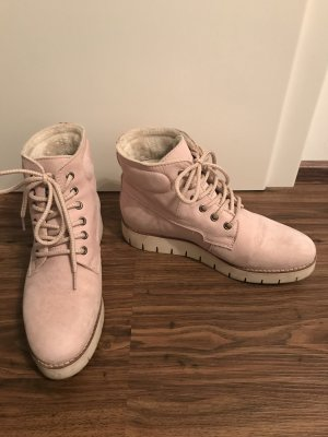 Tamaris Boots dusky pink leather
