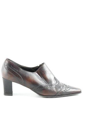 Tamaris Zapatos Budapest marrón oscuro estilo «business»
