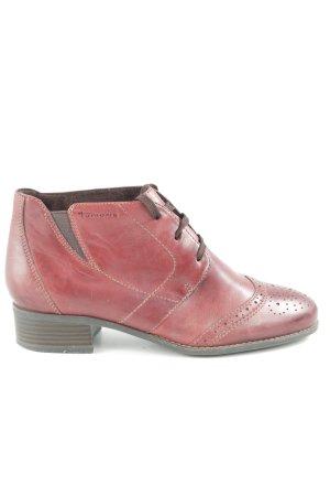 Tamaris Zapatos Budapest rojo oscuro-rojo amarronado look casual