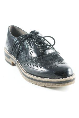 Tamaris Zapatos Budapest negro estampado con diseño abstracto
