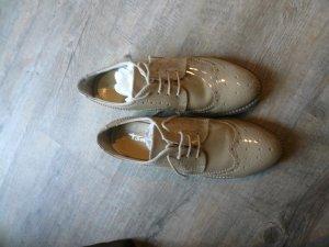 Tamaris Zapatos brogue camel-blanco Cuero