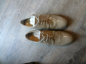 Tamaris Wingtip Shoes camel-white leather