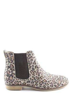 Tamaris Chelsea Boot motif léopard style décontracté