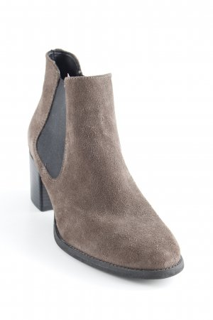 Tamaris Stivale Chelsea marrone-grigio-talpa stile casual
