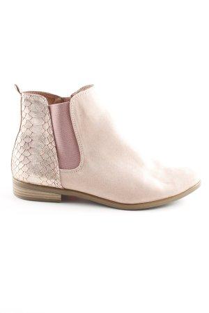 Tamaris Chelsea laarzen rosé-roze dierenprint