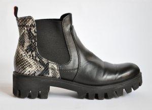 TAMARIS Chelsea Boots Stiefeletten schwarz / Schlange Gr. 40