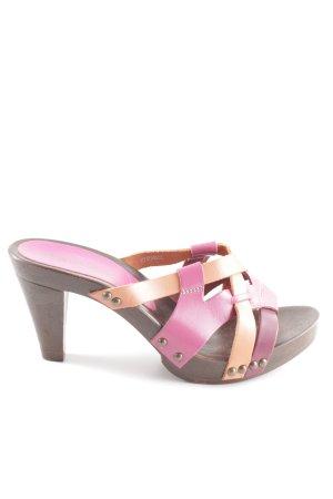 Tamaris Clog Sandals pink-light orange casual look