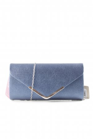 Tamaris Clutch graublau Metallic-Optik