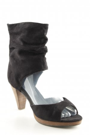 Tamaris Cut-Out-Stiefeletten schwarz-beige schlichter Stil