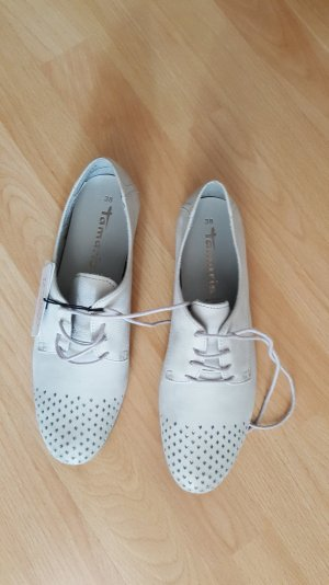 Tamaris Zapatos formales color plata-gris claro Gamuza