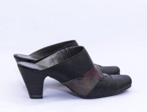 Tamaris Heel Pantolettes black-brown leather