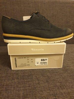 Tamaris Chaussures à lacets bleu foncé