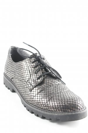 Tamaris Derby black-silver-colored elegant