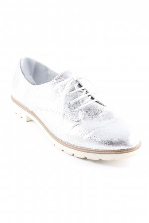 Tamaris Derby silver-colored casual look