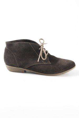 Tamaris Desert Boots dark brown-beige casual look
