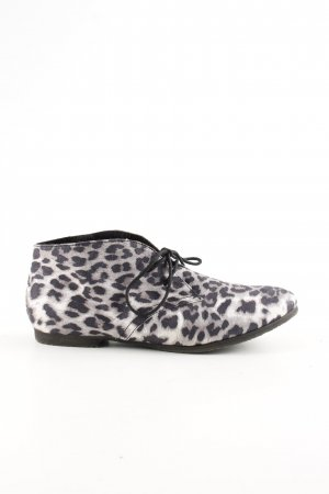 Tamaris Desert Boots black-light grey animal pattern casual look