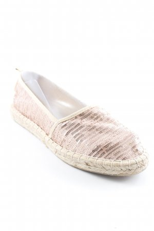 Tamaris Espadrille Sandals rose-gold-coloured-oatmeal glittery