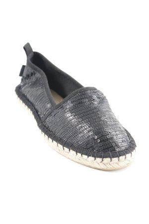 Tamaris Espadrille Sandals black glittery