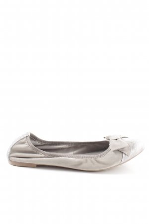 Tamaris Foldable Ballet Flats silver-colored-light grey casual look