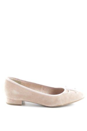 Tamaris faltbare Ballerinas beige-altrosa Casual-Look