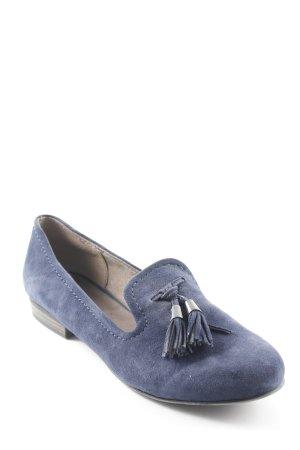 Tamaris Ballerines pliables bleu foncé style décontracté