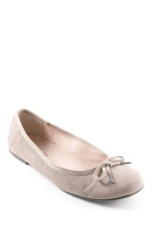 Tamaris faltbare Ballerinas graubraun Casual-Look