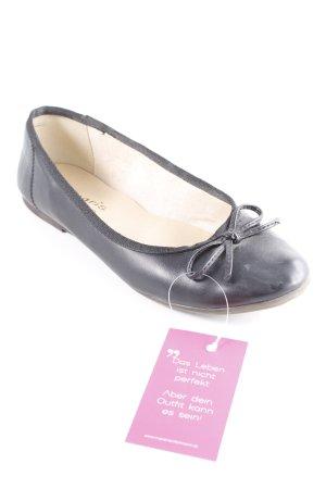 Tamaris faltbare Ballerinas schwarz-creme Elegant