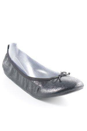 Tamaris faltbare Ballerinas schwarz Glanz-Optik