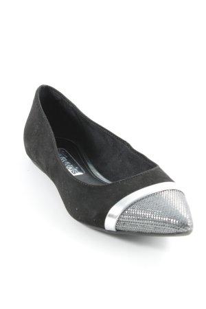 Tamaris faltbare Ballerinas schwarz-silberfarben Elegant