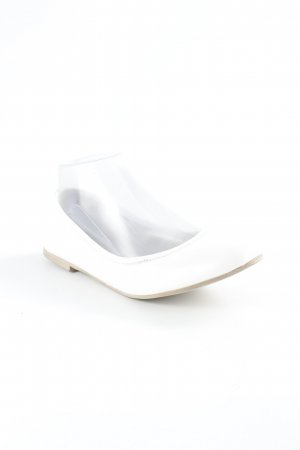 Tamaris Foldable Ballet Flats white simple style