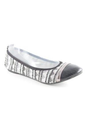 Tamaris Bailarinas plegables estampado de zigzag elegante